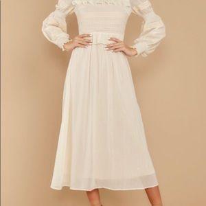 Simply wishing for  lvory  midi dress